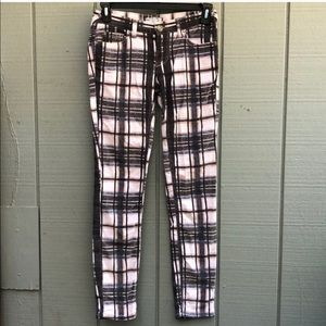 Free People Plaid Corduroys